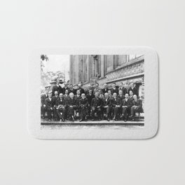 World-Renowned Physicists of 1927 at Solvay Conference Bath Mat