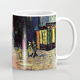 The cafe terrace on the place du forum, Arles, at night, by Vincent van gogh.  Coffee Mug
