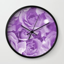 Violet Rose Bouquet For You - Valentine's Day #decor #society6 #homedecor Wall Clock