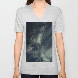 Cloud and sky 9 -cloud, sky, blue, positive,optimism Unisex V-Neck