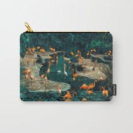 Flamingo Creek #flamingo #tropical #illustration Carry-All Pouch