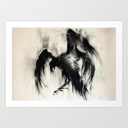 Flying Crow Art Print