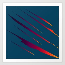 Tearing The Veil: Colors Art Print