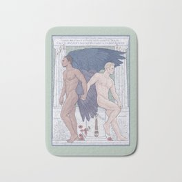 Hypnos and Thanatos (Sleep and Easeful Death) Bath Mat