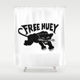 FREE HUEY DEAR PANTHER Shower Curtain