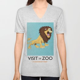 Visit the Zoo Lion Unisex V-Neck