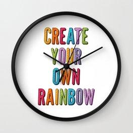 Create Your Own Rainbow Wall Clock