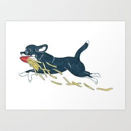 Chihuahua & French Fries Art Print
