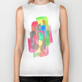 171013 Invaded  Space 2  |abstract shapes art design |abstract shapes art design colour Biker Tank