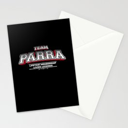Team PARRA Family Surname Last Name Member Stationery Cards