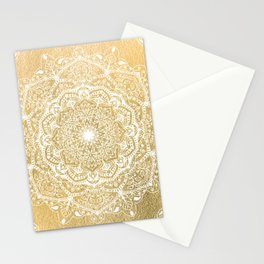 NATURE DETAILS MANDALA IN GOLD Stationery Cards