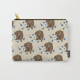Blue wrens Wombat Football Carry-All Pouch