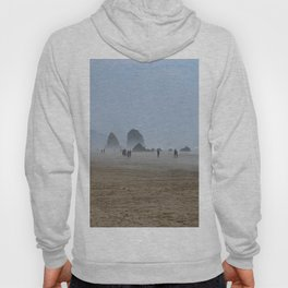 Misty Morning At Cannon Beach Hoody
