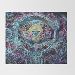 Promethean....Conversations with a god Throw Blanket