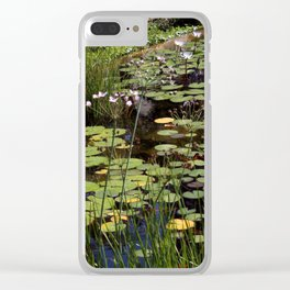 water flowers Clear iPhone Case