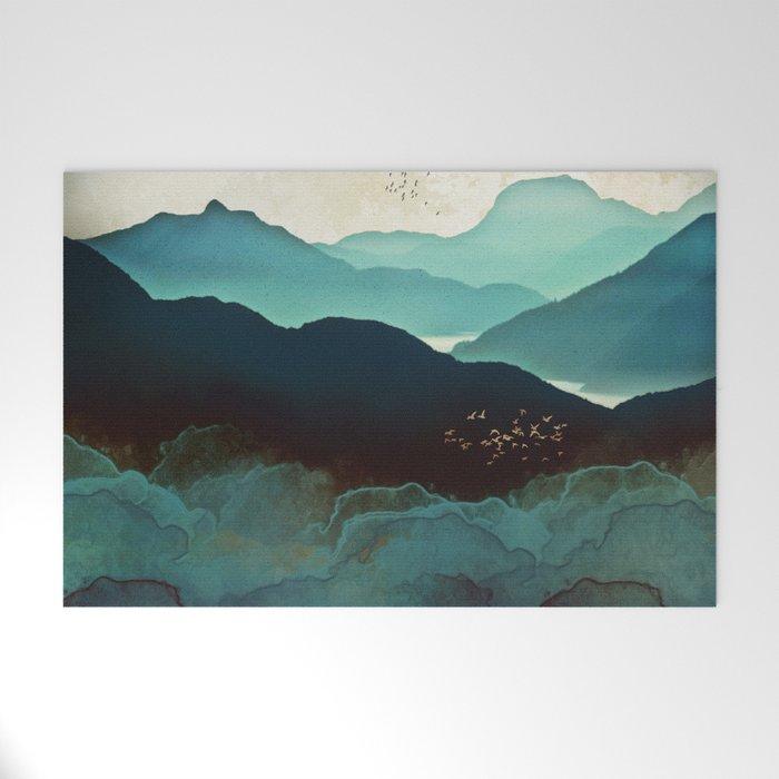 Indigo Mountains Welcome Mat