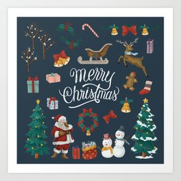 Merry Christmas Artwork Art Print