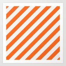diagonal - orange Art Print