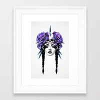woman Framed Art Prints featuring New Way Warrior by Ruben Ireland