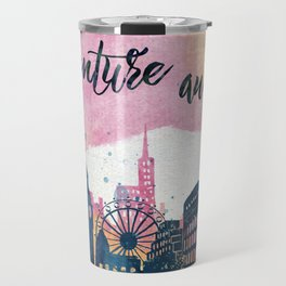 Adventure Awaits Watercolor Travel Mug