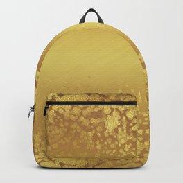Chic Stylish Elegant Gold Glitter Confetti Backpack