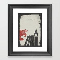 V Vendetta, Alternative Movie Poster, graphic novel by Alan Moore Framed Art Print