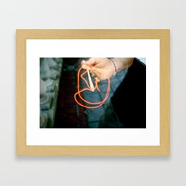 Drawing With Incense Framed Art Print