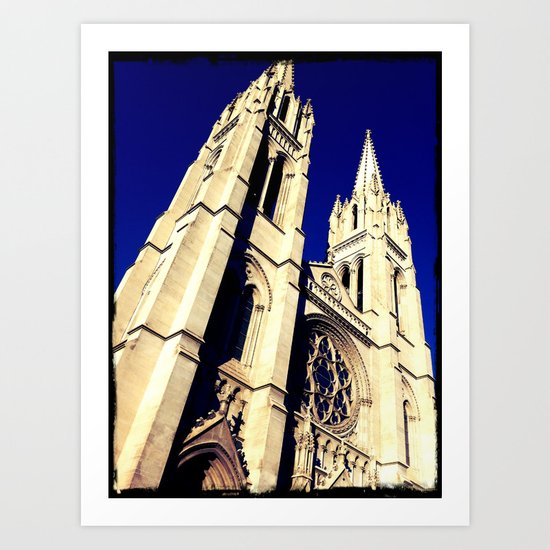 Denver Towers Over Art Print