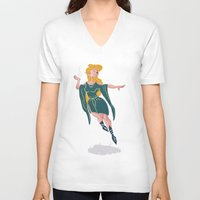 elf V-neck T-shirts featuring Elf by lueurlunaire (Chloe Losch)