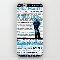 dragon age iPhone & iPod Skins featuring Dragon Age- Ander's Manifesto by Tori Mckenna