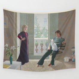 David Hockney, Mr & Mrs Clark & Percy, Masterpiece Exhibition Wall Tapestry