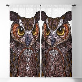Great Horned Owl 2016 Blackout Curtain