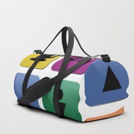 Tourist travel icon set Duffle Bag