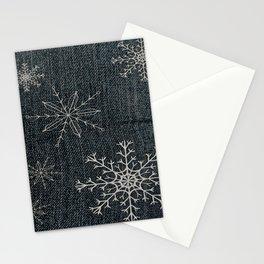 Denim Snowflake Stationery Cards