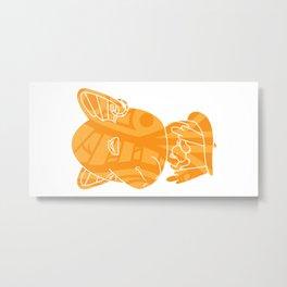 Tiki Kangaroo Metal Print