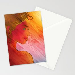 Independent Woman Sunset Stationery Cards