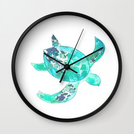 Ocean Blue Sea Turtle Wall Clock