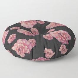 SPRING COMING (After Rene Magritte) Black Floor Pillow
