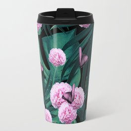 Tropical Peonies Dream #1 #floral #foliage #decor #art #society6 Travel Mug