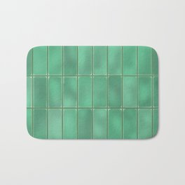 Cyan Tiles Bath Mat