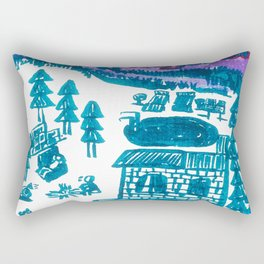 drawing_the promised land Rectangular Pillow