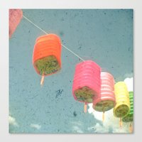 lanterns Canvas Prints featuring Lanterns by Cassia Beck