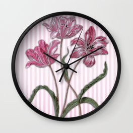 Maria Sibylla Merian: Three Tulips Wall Clock