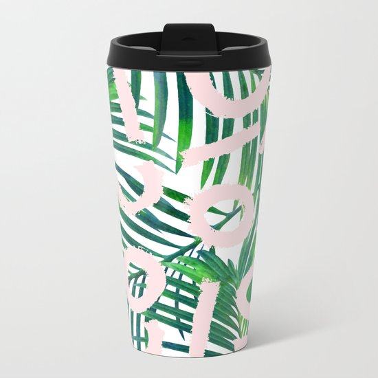 Palm Blabber #society6 #decor #buyart Metal Travel Mug