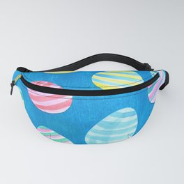 Easter Egg Watercolor Pattern -  Blue Fanny Pack