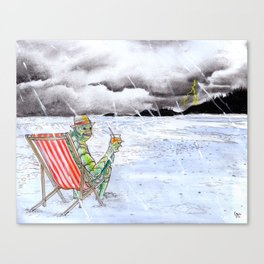 Creature Beach Canvas Print