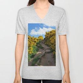 Edinburgh Scotland Sunflower Path-United Kingdom Unisex V-Neck