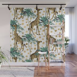 Giraffe Safari Wall Mural