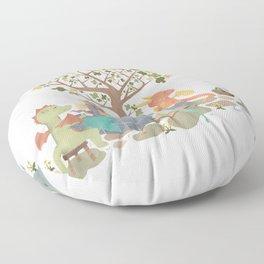 Dragon Tea Party Floor Pillow