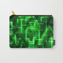 Ultramarine green intersections on a bright metal background. Carry-All Pouch